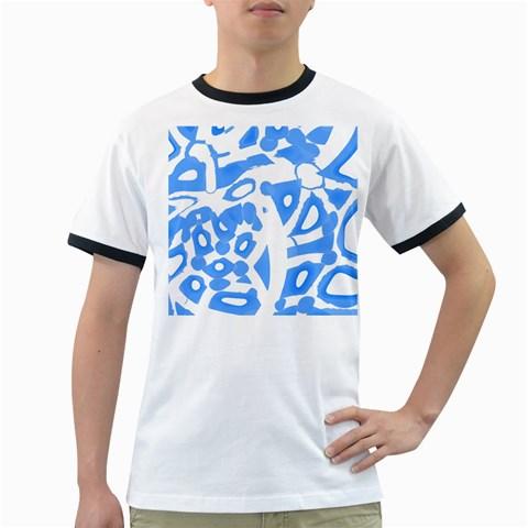Blue summer design Ringer T-Shirts