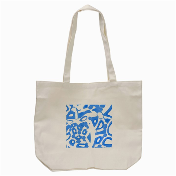 Blue summer design Tote Bag (Cream)