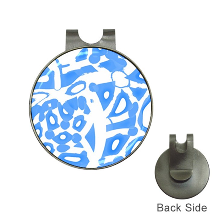 Blue summer design Hat Clips with Golf Markers