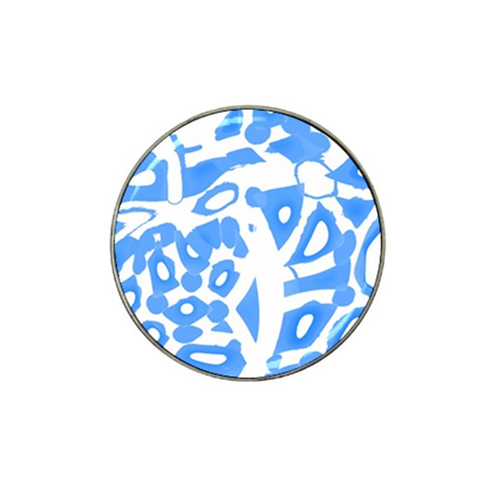 Blue summer design Hat Clip Ball Marker (10 pack)
