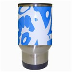 Blue summer design Travel Mugs (White) Center