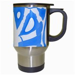 Blue summer design Travel Mugs (White) Right