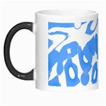 Blue summer design Morph Mugs Left