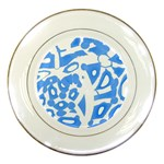 Blue summer design Porcelain Plates Front