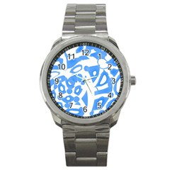 Blue Summer Design Sport Metal Watch