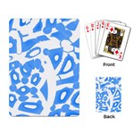 Blue summer design Playing Card Back