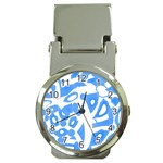 Blue summer design Money Clip Watches Front