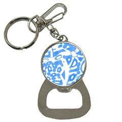 Blue summer design Bottle Opener Key Chains