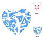 Blue summer design Playing Cards (Heart)  Front