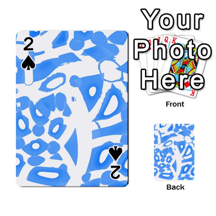 Blue summer design Playing Cards 54 Designs