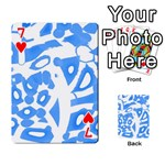 Blue summer design Playing Cards 54 Designs  Front - Heart7