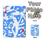Blue summer design Playing Cards 54 Designs  Front - Diamond7