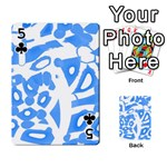 Blue summer design Playing Cards 54 Designs  Front - Club5