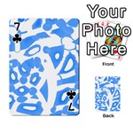 Blue summer design Playing Cards 54 Designs  Front - Club7