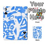 Blue summer design Playing Cards 54 Designs  Front - Club9