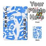 Blue summer design Playing Cards 54 Designs  Front - Joker1