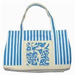 Blue summer design Striped Blue Tote Bag Front