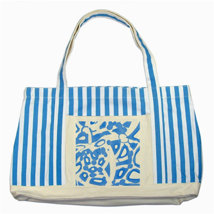 Blue summer design Striped Blue Tote Bag
