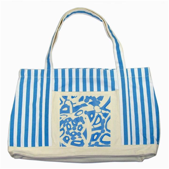 Blue summer design Striped Blue Tote Bag
