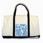 Blue summer design Two Tone Tote Bag Front