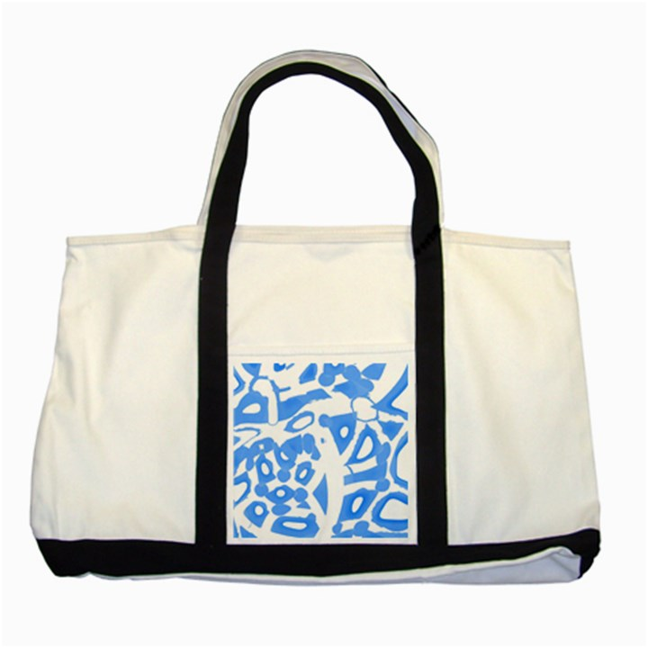 Blue summer design Two Tone Tote Bag