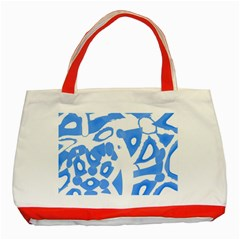 Blue summer design Classic Tote Bag (Red)