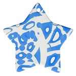 Blue summer design Star Ornament (Two Sides)  Back