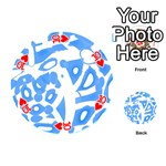 Blue summer design Playing Cards 54 (Round)  Front - Heart10