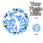 Blue summer design Playing Cards 54 (Round)  Front - Club5