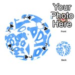 Blue summer design Playing Cards 54 (Round)  Front - Club7