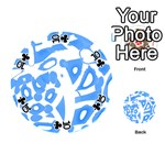 Blue summer design Playing Cards 54 (Round)  Front - Club10