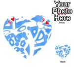 Blue summer design Playing Cards 54 (Heart)  Front - Heart9