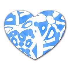 Blue Summer Design Heart Mousepads