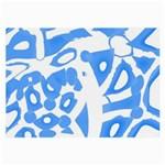 Blue summer design Large Glasses Cloth (2-Side) Front