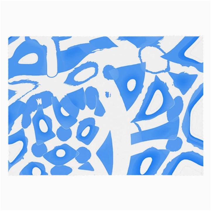 Blue summer design Large Glasses Cloth (2-Side)