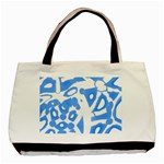 Blue summer design Basic Tote Bag (Two Sides) Back