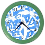 Blue summer design Color Wall Clocks Front