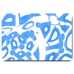 Blue summer design Large Doormat  30 x20 Door Mat - 1