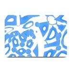 Blue summer design Plate Mats 18 x12 Plate Mat - 1