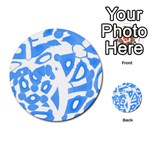 Blue summer design Multi-purpose Cards (Round)  Back 9