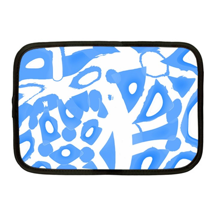 Blue summer design Netbook Case (Medium)