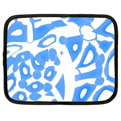 Blue summer design Netbook Case (Large)