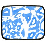 Blue summer design Netbook Case (Large) Front