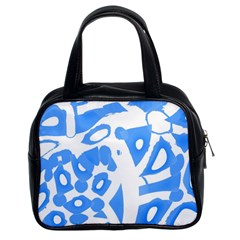 Blue summer design Classic Handbags (2 Sides)