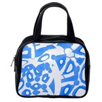 Blue summer design Classic Handbags (2 Sides) Back