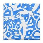 Blue summer design Face Towel Front