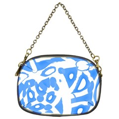Blue summer design Chain Purses (One Side)