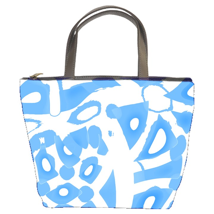 Blue summer design Bucket Bags
