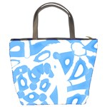 Blue summer design Bucket Bags Back
