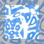 Blue summer design Mini Canvas 6  x 6  6  x 6  x 0.875  Stretched Canvas